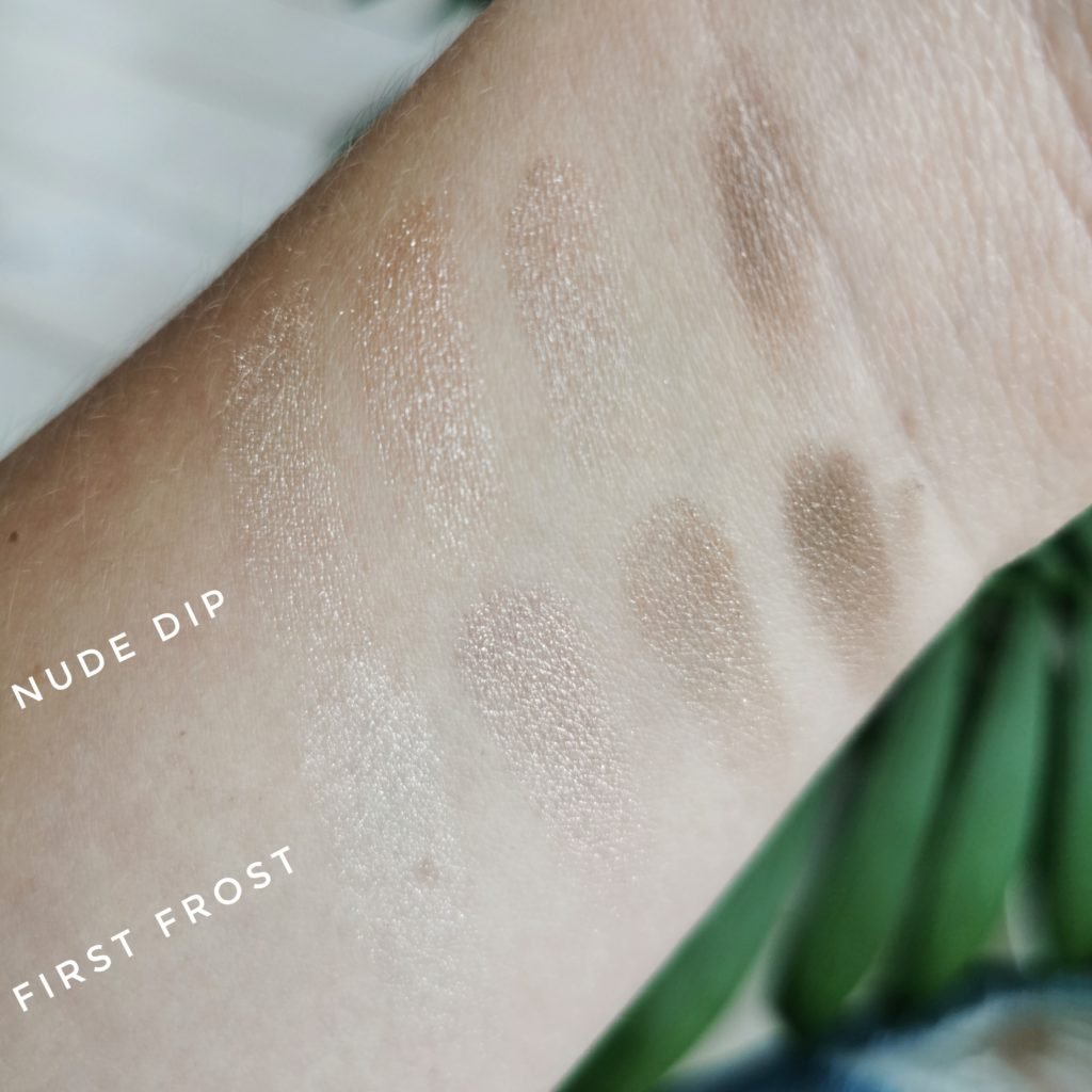 Tom Ford First Frost and Nude Dip comparison