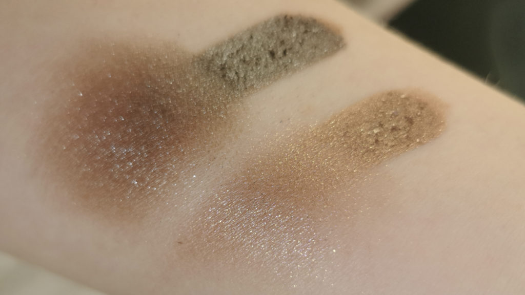 Victoria Beckham Beauty Lid Lustre Mink and Tea Rose swatches